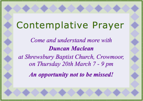 Contemplative Prayer evening 2014 poster